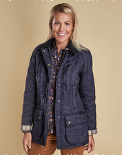 The fleece-lined Beadnell Polarquilt Jacket by Barbour is a versatile, seasons-spanning layer.