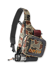 The Orvis Safe Passage Sling Pack provides one-shoulder convenience and a streamlined design.