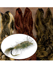 Lifelike hare's fur is incredible dubbing material for any fly tying application. Made in USA.