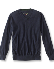 Our Merino Wool V-Neck Sweater boasts a lightweight, bulk-free fit and an amazingly soft hand.