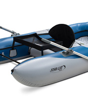 This personal fishing watercraft by Outcraft pairs the best of a pontoon with a float-boat.