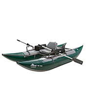 This lightweight pontoon fishing boat is designed for big water and big fish.