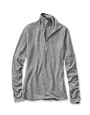 Experience the high-performance comfort of a half-zip Merino wool pullover for women.