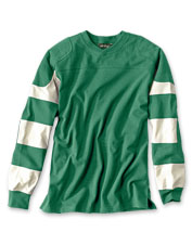 Go ahead and play rough—our classic knit Crewneck Football Jersey can handle it.