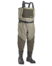 These bootfoot waders offer maximum durability and traction.
