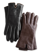 Our nappa leather shearling-lined gloves combine pure luxury with cozy practicality.