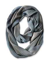 This distinctive infinity scarf is handwoven in pure bamboo rayon by Guatemalan women.
