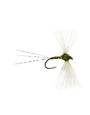Feed spooky trout with this quill spinner fly.