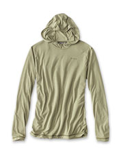 Moisture-wicking drirelease, now in a pullover sun hoodie for men.