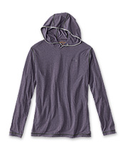 Moisture-wicking drirelease®, now in a pullover sun hoodie for men.