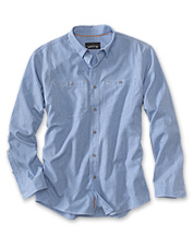 0db51c890b8e Our lightweight Tech Chambray Work Shirt offers all-day comfort in a  quick-drying
