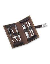 Like a personal toolbox, no man should be without a men's manicure set.