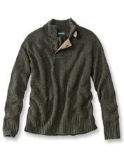 The luxurious wool and cashmere blend will make this men's sweater a long-time favorite.