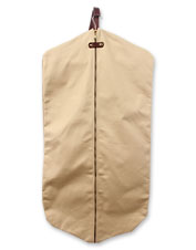 This hanging Canvas Garment Bag converts on the go for comfortable carrying without hassle.