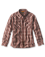 You'll reach for the Western-style Granite Peaks Shirt for days spent fishing or by the fire.