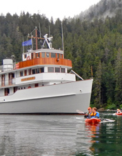 Take in the beautiful scenery from a small, luxury cruise ship on this Alaska adventure cruise.