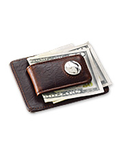 Carry cash in distinctive style with our magnetic leather money clip.