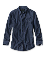 Travel in enduring style with our men's wrinkle free denim shirt.