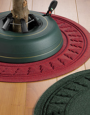 Recycled Water Trapper Christmas Tree Mats contain spills and keep plastic out of landfills.