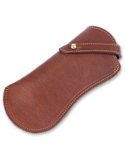 Our deluxe leather eyeglass case can be personalized. Made in USA.