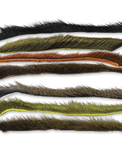 These pine squirrel zonker strips are excellent for tying large streamer flies.