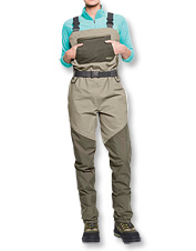 These women's fishing waders are designed specifically to women's fit specifications.