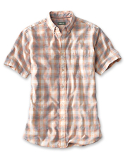Enjoy warm-weather comfort wearing our Slub Shirt in an appealing ombré plaid print.