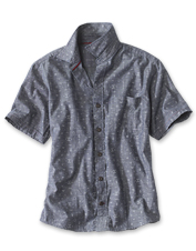 Cool chambray adds breathability to our Western Symbols Shirt for comfort through warm seasons.