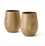 Invite smoky oak flavors to enhance your favorite whiskey with this handsome wood tumbler set.