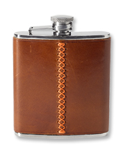 Blaze Trim Leather Flask