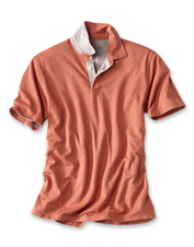 Our Double Knit Polo shirt shows off heathered hues and offers an incredibly soft hand.