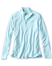 Bug-repelling, UV-protecting comfort: This Outsmart Zipneck Shirt offers impressive features.