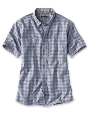 Block the sun's UV rays in chambray style—our Bowman Work Shirt is perfect on the water or off.