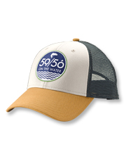 Enjoy a perfect low-profile fit in this trucker cap that sports our 50/50 On the Water logo.