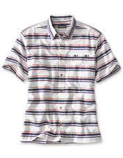 Welcome a nautical feel into your wardrobe with our slub-textured Horizontal Stripe Shirt.