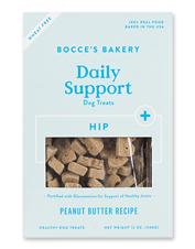 These Hip Support Dog Treats with glucosamine please the palate and the joints.