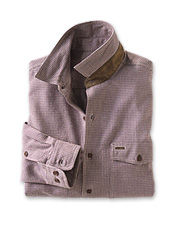 Relax in our handsome, yet rugged long-sleeved houndstooth shirt.