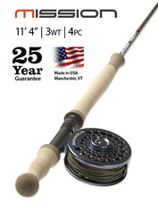 Cast to more remote areas with the lightweight Mission Two-Handed 3-Weight 11' 4