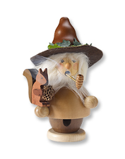 Add a dash of whimsy to your seasonal décor with this handmade Woodsman Incense Smoker.