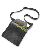 The Dog Parks Cross-Body Bag holds the treats and accessories you need for your pal.