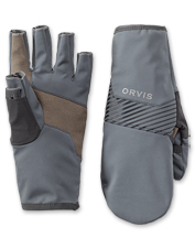 The clever design of these convertible softshell mittens offers agility when it matters most.