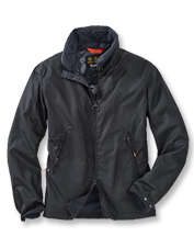 Block the weather in the rugged build and shorter length of the Bennet Wax jacket by Barbour.
