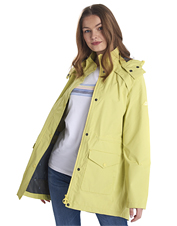 Stay comfortably dry in heavy weather wearing the waterproof Barbour Deep Sea rain jacket.