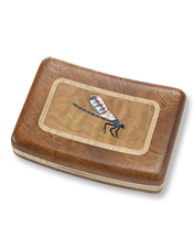 This lightweight and beautiful wooden fly box can be personalized for the angler on your list.