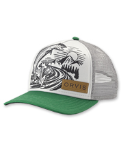 On the water, or for casual days—this Orvis jumping trout trucker cap nods to your passion.