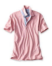 Layered or alone, our Oxford Jersey Polo shirt is an easy-to-wear option in any season.