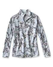 Stay cool and comfortable on the water wearing the drirelease Camo Quarter-Zip Casting Shirt.
