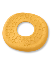 The Dash Dog Frisbee is made with soft, durable foam for gentle catches and floatable fun.