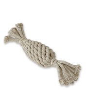 Give your dog some crinkly fun with this Natural Rope Pineapple toy.