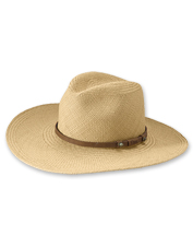 This Saltwater Panama Straw Hat is a breathable accessory for long days spent under the sun.